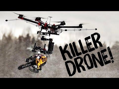 Watch: A Drone Armed With A Chainsaw