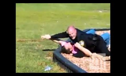 Watch: Man Takes Swing At Cop After Grabbing A Child That Wasn't His