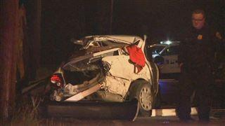 One person arrested, another injured when police chase ends in crash  – 95.3 MNC News