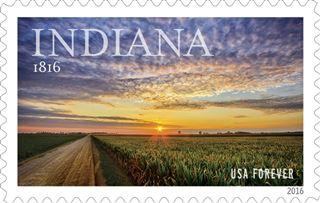 Stamp honoring Indiana's bicentennial to debut Tuesday  – 95.3 MNC News
