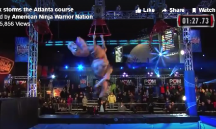 Watch: Tyrannosaurus Rex Smashing The American Ninja Warrior Course