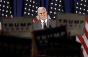 Gov. Mike Pence cuts ribbon at only Trump office in his home state  – 95.3 MNC News