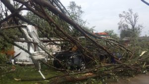 Gov. Mike Pence tours tornado-whipped Kokomo  – 95.3 MNC News