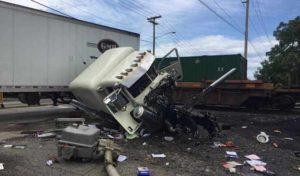 Train smashes into semi sitting on tracks in Mishawaka  – 95.3 MNC News