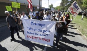 news donald trump protests economy opposition
