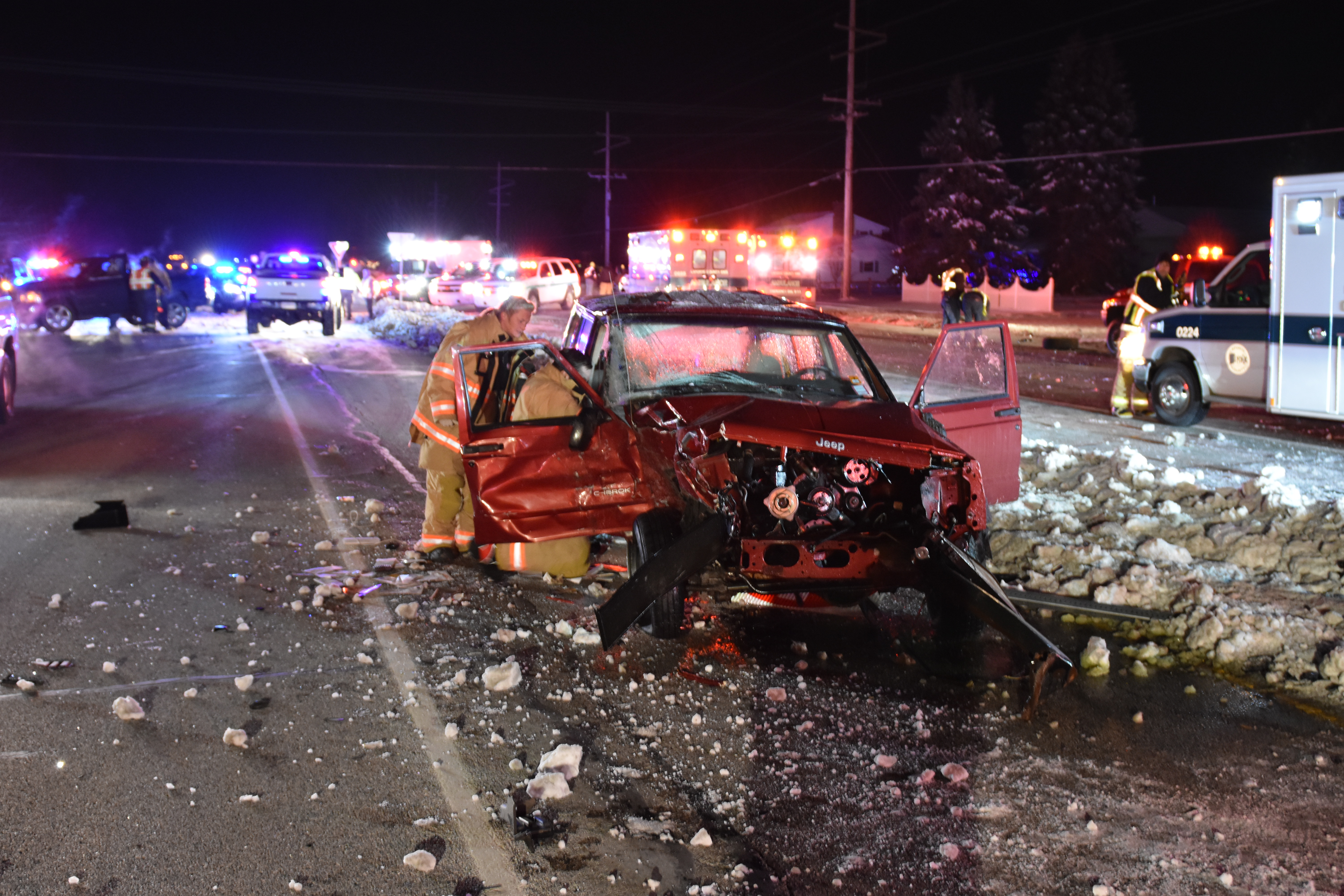 Three vehicle pileup in laporte county injures eight for Laporte indiana news
