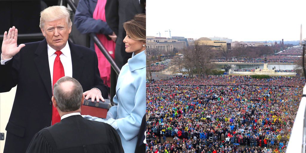 Fake News: New Photo Proves Media Lied About Trump Inauguration Crowd Size