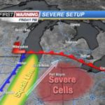 Coomes: Severe weather possible on Friday ahead of cold front  – 95.3 MNC News