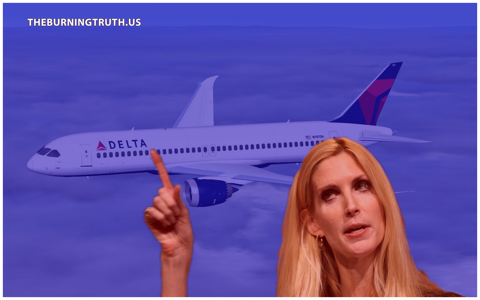Delta Airlines Gave Ann Coulter's Seat Away, And She Isn't Happy About it